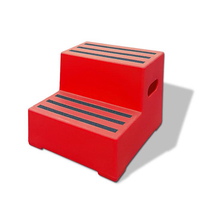 kunststoff tritthocker 2 stufen extra stabil und. Black Bedroom Furniture Sets. Home Design Ideas