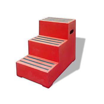 kunststoff tritthocker 3 stufen extra stabil und. Black Bedroom Furniture Sets. Home Design Ideas