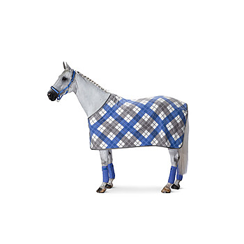 Eskadron Abschwitzdecke Fleece Checked Classic Sports HW 2018 Atlantic-Marshmellow-Silver